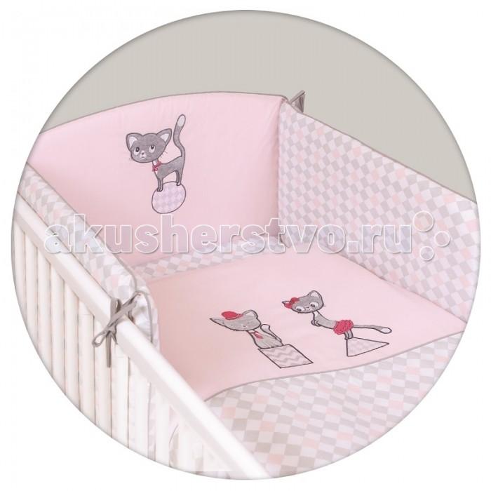 Постельное белье Ceba Baby Cats pink с вышивкой (3 предмета)