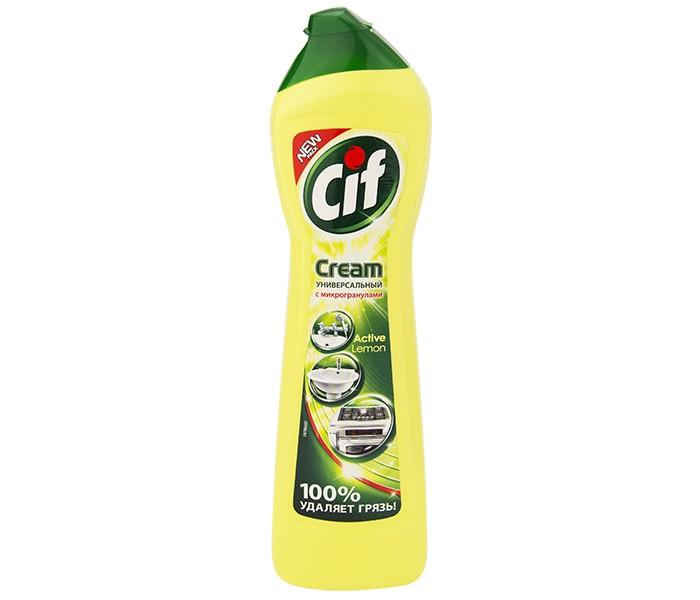 Бытовая химия Cif Чистящий крем Актив Лимон 500 мл крем чистящий zero универсальный на основе натурального мела и сока лайма 500 мл
