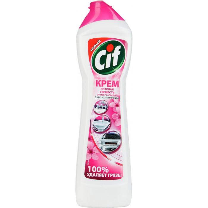 Бытовая химия Cif Чистящий крем Розовая свежесть 500 мл крем чистящий zero универсальный на основе натурального мела и сока лайма 500 мл