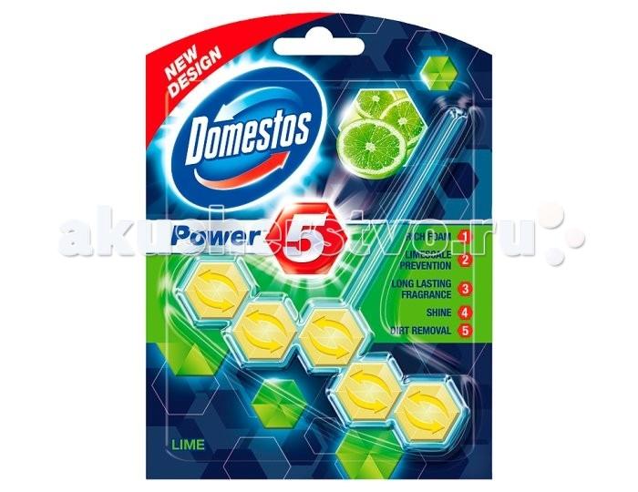 Бытовая химия Domestos Блок для очищения унитаза Power 5 свежесть лайма 55 гр средство чистящее domestos свежесть атлантики универс 24час