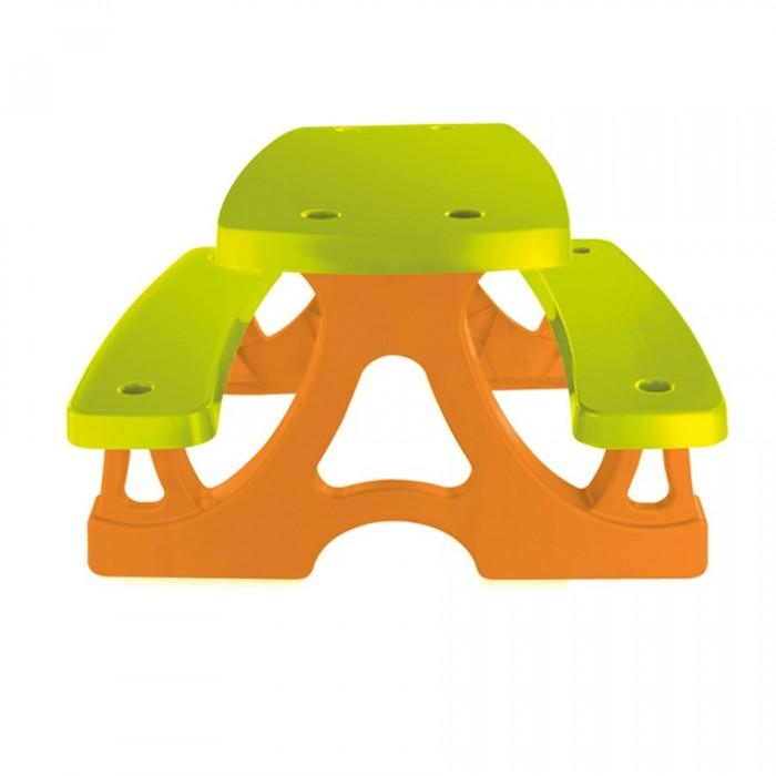 Mochtoys Столик для пикникаСтолик для пикникаMochtoys Столик для пикника  предназначен для игры на свежем воздухе или для пикника. Очень компактный садовый столик изготовлен из прочного качественного пластика, который обеспечит долгий строк службы.   Предназначен для детей возрастом от 2 лет. Простота установки, его легко собрать и разобрать. Можно использовать как на улице так и дома. Легко поддерживать в чистоте. Имеет яркий и красочной внешний вид. Дизайн без острых краев, поэтому он абсолютно безопасен для детей.  Размеры столика:  ширина: 79 см длина: 78 см высота: 47 см<br>