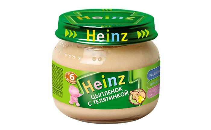 Пюре Heinz Пюре Цыпленок с телятинкой с 6 мес., 80 г пюре heinz морковочка с 5 мес 80 г