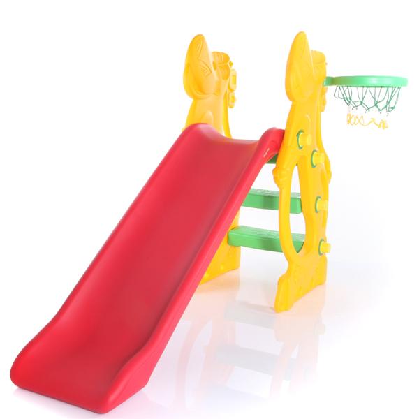 Горка Baby Care Gippo SwingGippo SwingBaby Care Gippo Slide  - самая функциональная горка своем классе. Она имеет два уровня регулировки по высоте, яркий красочный дизайн и удобные перила. Широкие ступеньки делают эту модель одной из самых популярных и привлекательных.  Горку можно использовать как в квартире, так и на дачном участке. Данная конструкция горки является самой устойчивой в своем классе. В наборе также баскетбольное кольцо и мячик.  Горка комплектуется: Пластиковой горкой Лесенкой Баскетбольным кольцом и мячом  Высота: 110 см Длина ската: 137 см Занимаемая площадь 0,48 х 1,60м Допустимая нагрузка: 50 кг Вес: 14 кг Рекомендована от 3 до 10 лет<br>