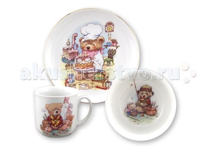 Reutter Porzellan Набор детской посуды Медвежонок 3 предмета