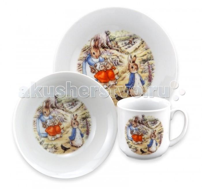 Reutter Porzellan Набор детской посуды Беатрис Поттер 3 предмета