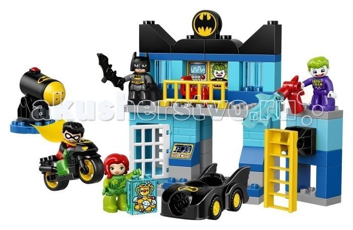 Конструктор Lego Duplo БэтпещераDuplo БэтпещераКонструктор Lego Duplo Бэтпещера состоит из 73 деталей, 4 мини-фигурок персонажей и дополняющих аксессуаров.  Особенности: Малышу предлагается собрать логово Бэтмена - Бэтмопещеру. Это своеобразная штаб-квартира всемирно известного героя, где есть все для поимки и задержания злодеев: радар, тюрьма, пульт управления, хранилище сокровищ, поднимающаяся лестница. Такое многосложное сооружение попытались атаковать и проникнуть внутрь известные злодеи: клоун Джокер и преступница Готема - Ядовитый плющ. Эта парочка тщательно спланировала проникновение, она ведет очень хитрую и коварную игру. Но легендарный Бэтмен и его напарник Робин раскрывают замысел и разоблачают преступников, помогая друг другу поймать их и задержать. Робин примчался на своем сверхскоростном бэт-байке, чтобы проинформировать друга о планах врагов. В комплект входят также бэтмобиль, на котором можно катать фигурку Бэтмена, бэтаранг и пистолет Джокера. Достаточно крупные детали конструктора разработаны специально для малышей для того, чтобы дать им возможность освоить базы конструирования. Детали с идеальной точностью скрепляются друг с другом, каждая из них имеет яркий цвет. Конструктор увлечет малыша на многие часы и не даст ему скучать.Конструкторы Lego не только развлекут девочку, но и позволят ей усовершенствовать мелкую моторику, развить воображение и творческую фантазию.  Все детали конструктора изготовлены из безопасного и качественного материала, при производстве используется многоступенчатая система контроля качества.<br>