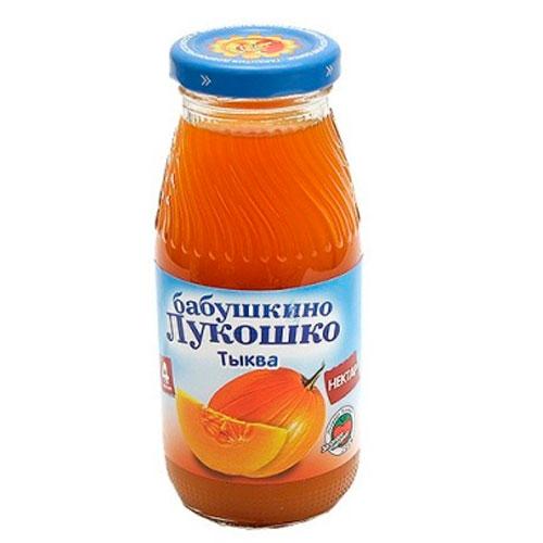 Соки и напитки Бабушкино лукошко Нектар Тыквенный с мякотью с 4 мес., 200 мл бабушкино лукошко морковно яблочный с мякотью нектар 0 2 л с 5 мес