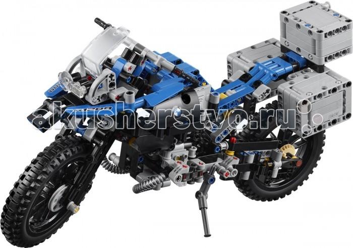 Конструктор Lego Technic Приключения на BMW R 1200 GSTechnic Приключения на BMW R 1200 GSКонструктор Lego Technic Приключения на BMW R 1200 GS станет замечательным увлечением для мальчика, знающего толк в сборке столь классных конструкторов.   Особенности: Данный конструктор можно собирать в одну из двух миниатюрных моделей транспорта.  Одной из этих моделей является миниатюрная копия мотоцикла BMW R 1200 GS. Гоночный мотоцикл БМВ непременно понравится мальчику, который увлекается транспортом, а в особенности гоночными байками.  Конструктор может превратиться в уникальный летательный аппарат, схожий внешне с мотоциклом, но при этом у него имеются мощные механические крылья. Сборка конструктора требует предельной внимательности ко всем деталям, к слову в полном комплекте их насчитывается 603. Однако не стоит переживать за правильность сборки, в наборе также предоставляется подробная и иллюстрированная инструкция, которая поможет собрать все точно и без ошибок. Конструктор способен увлечь мальчугана, который будет собирать его в один из возможных вариантов, а также играть с получившимся транспортом во всевозможные игры. Набор Lego Technic совместим с другими наборами этой же серии.  Подробная инструкция, входящая в комплект, позволит ребенку собирать конструктор, как в присутствии взрослого, так и самостоятельно.  Конструкторы Lego не только развлекут девочку, но и позволят ей усовершенствовать мелкую моторику, развить воображение и творческую фантазию.   Все детали конструктора изготовлены из безопасного и качественного материала, при производстве используется многоступенчатая система контроля качества.  Размер мотоцикла: 18 х 33 х 10 см. Размер альтернативной модели: 12 х 30 х 20 см<br>