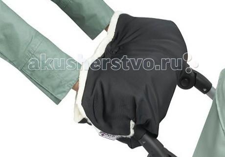 Esspero Муфта для рук на коляску Gentle LuxМуфта для рук на коляску Gentle LuxУниверсальная утепленная муфта для рук для детской коляски любого типа призвана обеспечить теплом ваши руки в холодный период.  Усовершенствованная модель имеет специальные резинки для более комфортного пролегания к рукам, а две дополнительные кнопки меняют конфигурацию по Вашему предпочтению.   Впервые муфту такого класса можно использовать не только в морозное время года, но и в дождливый период, так как мех прячется за непромокаемой тканью.   Не зависимо от типа детской коляски, классика - трость - книжка, муфта подойдет по креплениям и будет радовать Вас снова и снова, даже после смены коляски.  Шерсть вбитая в ткань<br>