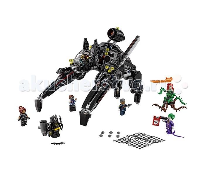 Конструктор Lego Batman Movie 70908 СкатлерBatman Movie 70908 СкатлерКонструктор Lego Batman Movie 70908 Скатлер состоит из 775 деталей и 5 минифигурок.  Минифигурка Бэтмена одета в тканевый черный плащ и пояс со специальными приспособлениями. У минифигурки есть 2 выражения лица.  Конструктор Lego Batman Movie 70908 Скатлер это огромная механическая летучая мышь. У скатлера полностью подвижные конечности с функцией удлинения передних конечностей. Кабина с прозрачной поднимающейся крышей установлена в подвижной голове летучей мыши. Скатлер очень функционален. Всего на нём установлено 6 шутеров: 2 по бокам головы мыши и по 2 на передних конечностях. В верхней части расположена подвижная ловушка. При нажатии на деталь сзади ловушки, она стреляет сетью. Также сзади корпуса расположен отсек для джетпака с прозрачной поднимающейся крышей. Джетпак серого цвета с двумя большими подвижными баллонами.  Минифигурка Дика Грейсона (Робин) одета в нарядный искристый пиджак с бабочкой. У него очки и 2 выражения лица: удивленное и довольное.  У Комиссара Гордона пистолет в руке и 2 выражения лица: серьезное и улыбающееся.  На минифигурку нового комиссара полиции Барбару Гордон надет бронежилет. У неё 2 выражения лица: ухмыляющееся и злое.  Ядовитый Плющ – злодейка, которую сделал таковой профессор биологии в университете. Она неуязвима к вирусам и ядам, сама может создавать опасные яды, а также очень красива. У минифигурки Ядовитого Плюща тканевая юбка, плющи в руках, красные волосы с листьями и цветком, а также 2 выражения лица: нейтральное и злое. В наборе также идёт специальная подставка.  У минифигурки Джокера фиолетовые костюм с тканевым низом, зелёные волосы и 2 выражения лица: одно ухмыляются, а другого безумная улыбка. В руках у Джокера пистолет, который выстрелил флажком с надписью Bang!  В наборе: 775 деталей 5 минифигурок механическая летучая мышь джетпак<br>
