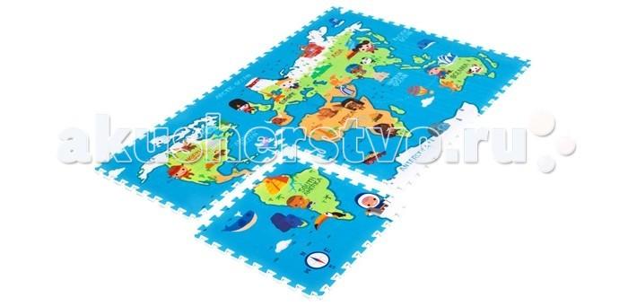 Игровой коврик Mambobaby Карта мира 180х120х2 см