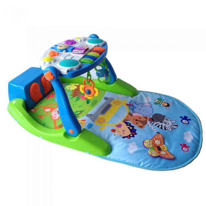Развивающий коврик Bertoni (Lorelli) С интерактивным столикомС интерактивным столикомBertoni (Lorelli) Игровой коврик с интерактивным столиком  Уникальный игровой коврик не только развлечёт Вашего малыша, но и поможет ему в активном развитии. Можно использовать от 6 мес и до 3-х лет.  пианино в ножках малыша (нажимая на клавиши, малыш слышит различные мелодии) столик регулируется в различных положениях музыкальные и световые эффекты обучение цветам обучение цифрам Размер коврика: 80 x 60 см.<br>