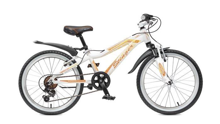 Велосипед двухколесный Stinger Fiona 20Fiona 20Велосипед двухколесный Stinger Fiona 20- это подростковый горный велосипед со спортивной геометрией для активного катания.   Рама выполнена из прочного и легкого алюминия, поэтому велосипед Stinger Fiona надежен и отлично управляется. Этот велосипед подходит как для новичков, так и для тех, кто уже уверенно чувствует себя на байке.  Амортизационная вилка обеспечивает мягкое прохождение кочек и других небольших препятствий, что делает велосипед универсальным.  Оборудование Shimano осуществляет переключение передач точно и быстро. Прочная и легкая алюминиевая рама высококачественный алюминий гарантирует легкость и надежность рамы.  Амортизационная вилка Suntour M3010 с ходом 50мм - велосипед оборудован амортизационной вилкой для большего комфорта и езде по неровностям.  6 скоростей - наличие системы переключения скоростей поможет подобрать комфортный режим езды в зависимости от окружающих условий.  Оборудование Shimano Tourney - переключение передач от мирового лидера компании Shimano гарантирует четкую и гладкую работу в любых условиях.  Ободные тормоза - легкие и надежные ободные тормоза обеспечат комфортное торможение.  Универсальные покрышки Z-Axis - для лучшего сцепления на покрышках используется специальный рисунок, создающий условия для хорошей управляемости.<br>