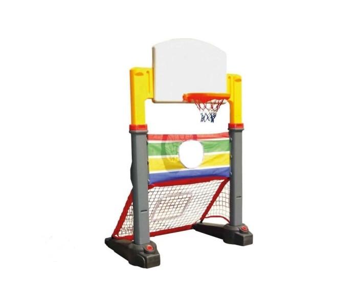 Lerado Спортивный комплекс LAG-532Спортивный комплекс LAG-532Lerado Спортивный комплекс LAG-532- это комплекс, совмещающий в себе две игры: баскетбол и футбол.   В нижней части комплекса располагаются футбольные ворота с сеткой, а в верхней баскетбольное кольцо. Такой комплекс очень удобно использовать на детских игровых площадках, так как наигравшись в одну игру, у ребенка здесь же есть возможность поиграть в другую.   Позволяет создать настоящую спортивную площадку в условиях недостатка места. Высота расположения кольца может регулироваться, что дает возможность настраивать комплект для детей разного возраста.   При этом все детали изготовлены из морозостойкого пластика, а использованные красители устойчивы к осадкам, температурным перепадам, ультрафиолету и механическим воздействиям. Благодаря этому вы можете установить комплекс как в помещении, так и на улице.  безопасная, устойчивая конструкция отсутствие острых углов использование на улице, в помещении широкие лапы основания ворота с сеткой для игры в футбол баскетбольный щит с кольцом для мячей натяжной тент с отверстием в центре для тренировки меткости при необходимости легко чистится и моется  Универсальный спортивный комплекс Lerado изготовлен из яркого, однородного и надежного пластика. LAG-532 выполнен в ярких цветах и имеет оригинальный дизайн.   Краски устойчивы к ультрафиолетовому излучению и изменениям температуры, устойчивы к истиранию и воздействию внешней среды. Можно использовать как на улице так и в помещении. Игровой комплекс легко очищается и удобно в использовании.   Все конструкции фирмы Lerado выполнены из высокопрочного и морозостойкого пластика (ПНД).  Размеры: 1.20 х 0.80 х 1.85-2.30 м. Размеры упаковки: 113 x 32 x 58 см. Объем: 0,21 м3. Вес: 15 кг.<br>