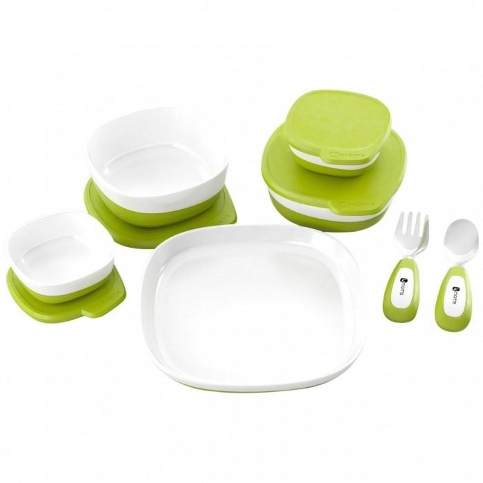 4moms Набор магнитной посудыНабор магнитной посуды4momsНабор магнитной посуды. Набор магнитной посуды для стульчика для кормления 4moms.   В комплекте: 4 глубокие миски с крышкой и одна сервировочная тарелка.   Вся посуда магнитится и надежно фиксируется на магнитном столике стульчика для кормления. Крышку столика и мисочки можно мыть на верхней полке посудомоечной машины. Мисочку и  другие принадлежности для кормления 4moms не следует использовать в микроволновой печи.<br>