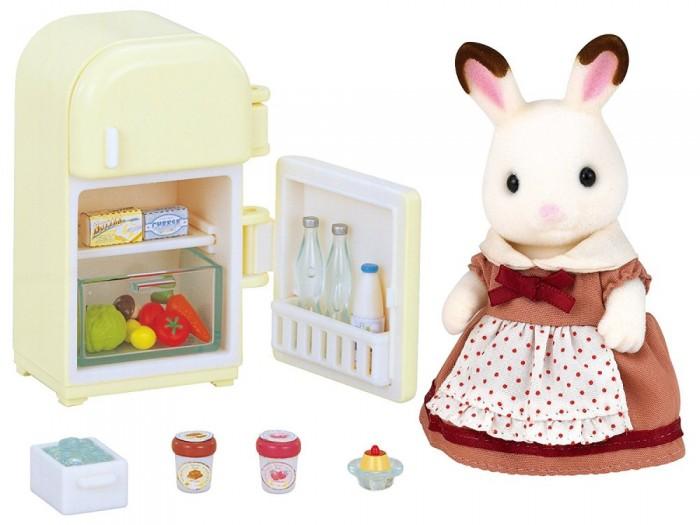 Игровые наборы Sylvanian Families Игровой набор Мама кролик и холодильник набор холодильник с продуктами sylvanian families