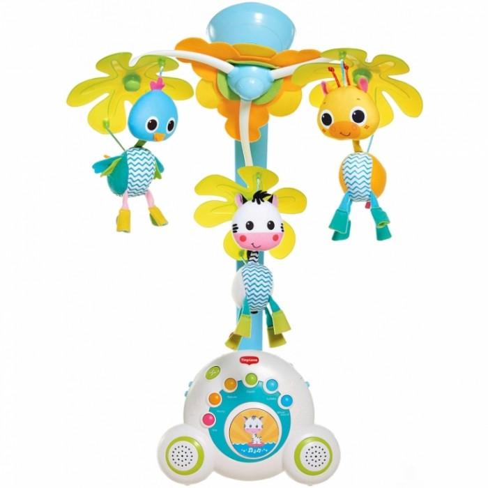 Мобиль Tiny Love СафариСафариМобиль Tiny Love Сафари 5 в 1.  Особенности: Музыкальный ассортимент: 18 мелодий в 6 категориях, 40 минут беспрерывной игры. Мягкие цвета игрушек и плавное вращение мобиля привлечет внимание и заинтересует малыша с первых дней жизни, нежные мелодии успокоят и усыпят. Возможность самостоятельного выбора как категорий мелодий так и наличие кнопки «проигрывания в вперемежку» позволяет разнообразить выбор музыки по настроению малыша Классические, джазовые произведения, звуки природы, лучшие колыбельные – развивают внимание и слух младенца, обеспечивают комфорт и приятную атмосферу Эксклюзивный звуковой режим «Белый шум» для новорожденных — исследования показали, что он помогает новорожденным расслабиться, так как напоминает внутриутробные звуки. Возможность регулирования громкости позволит подобрать свой звуковой фон и игровой режим. Мобайл «Сафари» единственный мобиль с двумя динамиками, что создает более объёмный и глубокий звук и обеспечивает высокое качество воспроизведения. Мягкое свечение музыкального блока обеспечивают уют и подсветку детской кроватки. Оригинальное крепление мобиля, позволяет надежно закрепить его на кроватке. При снятии дуги мобиль превращается в отдельную Музыкальную шкатулку – Бум-бокс, позволяет использовать его как игровой магнитофончик, когда малыш подрос. Также есть специальная ручка, с помощью которой Бум-бокс удобно переносить, играться и самостоятельно слушать любимые мелодии. Способствует: Эмоциональному развитию Развитию зрения Развитию слуха Развитию внимания и концентрации Развитию коммуникации Развитию мелкой моторики<br>