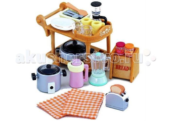 Кукольные домики и мебель Sylvanian Families Игровой набор Кухонная посуда красный лагерь на открытом воздухе кемпинга кухонная посуда кухонная посуда кухонная посуда 2 3 человек пикник посуда посуда teapot set