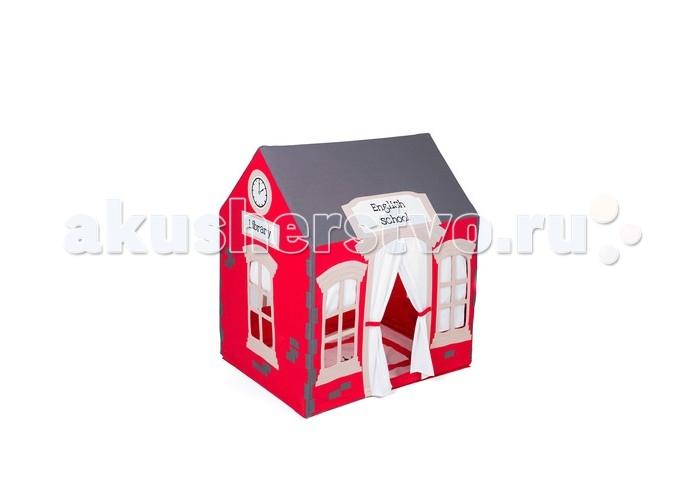 BabyDomiki Игровой домик English shcoolИгровой домик English shcoolСтильный Игровой домик English shcool выполен в ярких цветах и не оставит без внимания ни одного ребенка! Он станет уютным уголком для детских игр в квартире, загородном доме или на даче.  Игровой домик представляет собой прочный деревянный каркас и красочный текстильный чехол из плотной ткани, который при необходимости можно постирать в стиральной машине. Каркас выполнен из круглых деревянных палочек сибирской березы и пластиковых соединителей, не имеет опасных острых углов и мелких деталей слабой фиксации. Домик очень устойчив и крайне прост в сборке. В разобранном виде домик компактен в хранении.  В комплекте:  красочный текстильный чехол для домика деревянный каркас с пластиковыми соединителями Домик можно дополнить различными аксессуарами, выполненными в таком же дизайне (приобретаются отдельно).  Уход:  рекомендована ручная или деликатная машинная стирка при температуре не выше 40°С  Размер: 100х75х115 см<br>