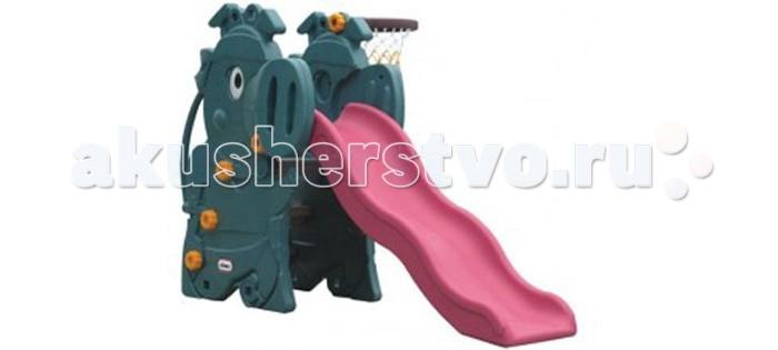Горка Family Динозавры VS-805Динозавры VS-805Family Горка Динозавры VS-805 изготовлена из яркого, однородного и надежного пластика.   Горка выполнена в ярких цветах и имеет оригинальный дизайн. Краски устойчивы к ультрафиолетовому излучению и изменениям температуры, устойчивы к истиранию и воздействию внешней среды.   Игровая площадка  соответствует ГОСТам, которые указаны в сертификатах соответствия. Детская горка с волнообразным скатом обеспечит плавный спуск и мягкое приземление Вашему ребенку, широкие ступени и надежные поручни помогут ему подниматься на горку самостоятельно, боковые стенки конструкции  имеют рельефную структуру, что обеспечивает дополнительную безопасность, под горкой есть небольшое пространство для игр и баскетбольное кольцо.    Можно использовать для игр, как в помещении, так и на улице.  Размер: 1.74 х 0.87 х 1.15 м.  Размеры упаковки: 142 х 38 х 76 см.  Объем: 0.4 м3.  Вес: 21.5 кг  Возраст: от 1 года до 4х лет.<br>