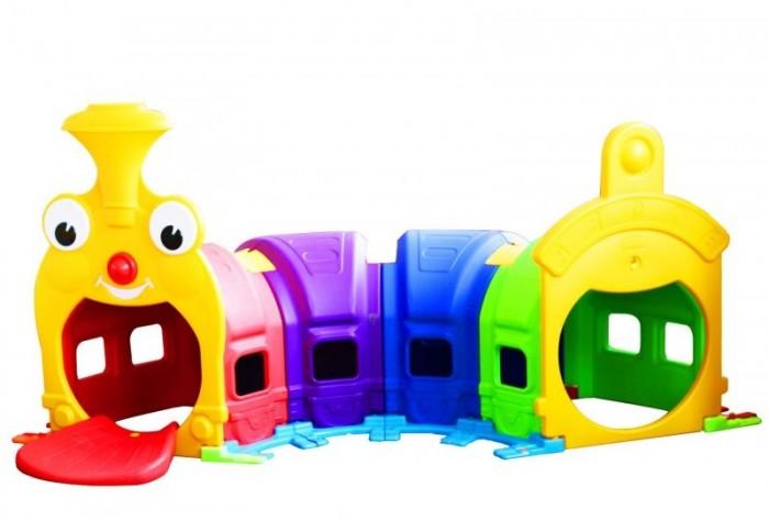 Family Лаз Паровозик F-729Лаз Паровозик F-729Family Лаз Паровозик F-729 изготовлен из яркого, однородного и надежного пластика.   Игровой лаз выполнен в ярких цветах и имеет оригинальный дизайн.  Краски устойчивы к ультрафиолетовому излучению, и изменениям температуры, устойчивые к истиранию и воздействию внешней среды. Игровая площадка  соответствует ГОСТам, которые указаны в сертификатах соответствия.  Детская  площадка  представляет собой игровой туннель в виде яркого разноцветного паровозика. Подходит для установки во дворах жилых кварталов, на частных территориях, а также в просторных закрытых помещениях (например, в детском саду или игровых комнатах).   Конструкция состоит из четырёх модулей разных цветов с отверстиями, выполненных из качественного и прочного пластика. Лаз предназначен для детей старше одного года.   Игровая площадка поставляется в разобранном виде и проста в монтаже.  Устанавливается на ровную твёрдую поверхность.  Размер: 2.40 х 0.98 х 1.06 м. Размеры упаковки: 110 х 67 х 51 см. Объем: 0.37 м3. Вес: 30 кг. Возраст: от 1 года до 4х лет.<br>