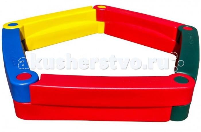 Family Песочница F-5 (5 элементов)Песочница F-5 (5 элементов)Family Песочница F-5 (5 элементов) изготовлены из яркого, однородного и надежного пластика.   Выполнены в ярких цветах и имеет оригинальный дизайн. Краски устойчивы к ультрафиолетовому излучению и изменениям температуры, устойчивы к истиранию и воздействию внешней среды. Изделие соответствует ГОСТам, которые указаны в сертификатах соответствия.  Размер: 200 х 200 х 30 см Площадь: 1.6 м2 Высота: 30 см Возраст: от 2 лет<br>