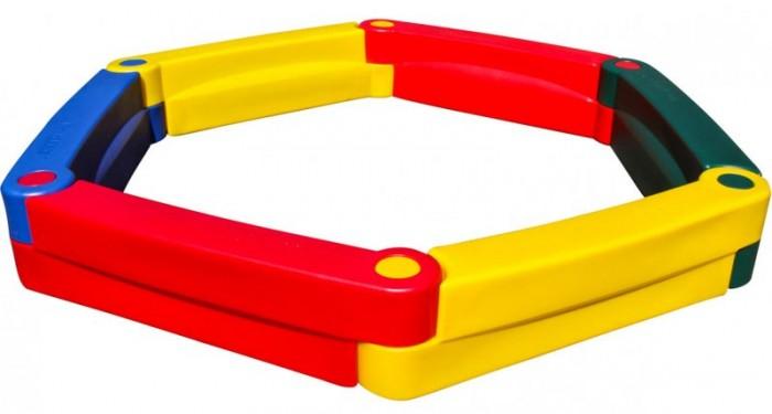 Family Песочница F-6 (6 элементов)Песочница F-6 (6 элементов)Family Песочница F-6 (6 элементов) изготовлены из яркого, однородного и надежного пластика.   Выполнены в ярких цветах и имеет оригинальный дизайн. Краски устойчивы к ультрафиолетовому излучению и изменениям температуры, устойчивы к истиранию и воздействию внешней среды. Изделие соответствует ГОСТам, которые указаны в сертификатах соответствия.  Размер: 230 х 230 х 30 см Площадь: 2.4 м2 Высота: 30 см Возраст: от 2 лет<br>