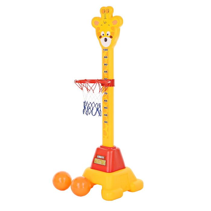 Edu-Play Стойка баскетбольная ЖирафСтойка баскетбольная ЖирафВеселая баскетбольная стойка для малыша - в виде забавного Жирафчика, с ростомером.   Ростомер с очаровательным Жирафчиком будет внимательно наблюдать за ростом и развитием малыша.   Данный предмет послужит отличным украшением детской!   В комплект входят мячи - 2 штуки.   Вся продукция фирмы изготовлена из высококачественного пластика, предусматривающего его использование на долгий срок.   Высота Жирафчика 110 см.<br>
