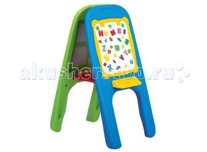 Edu-Play Доска магнитная для рисования двусторонняяДоска магнитная для рисования двусторонняяДетский двухсторонний мольберт предназначен для обучения и рисования вашего ребенка.  Прост в сборке: состоит из двух боковых панелей, зеленой и голубой, на обеих панелях расположены держатели для бумаги, полочка под стиратель и карандаш, а также обе стороны соединены между собой подносом, на котором можно хранить все нужные детали и инструменты для письма и рисования.  В комплекте - два специальных фломастера и стиратель.  Вся продукция изготовлена из высококачественного пластика, предусматривающего его использование на долгий срок.  Высота мольберта 106 см.<br>