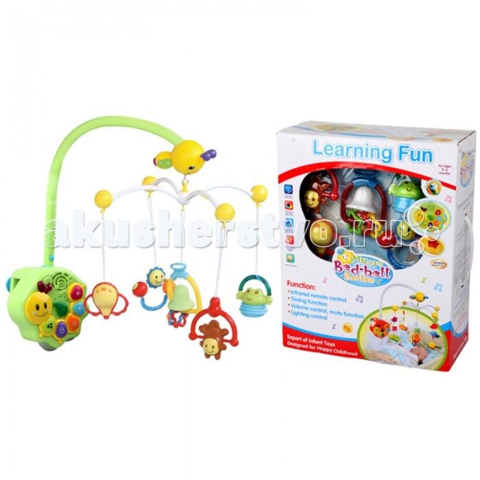 Мобиль Bairun Музыкальная карусель Y360900Музыкальная карусель Y360900Bairun Музыкальная карусель Y360900  - это аксессуар, который не только украсит кроватку, но и станет полезным для ребенка и его мамы. Он изготовлен из пластика и легко устанавливается и надежно крепится на спинке кроватки. На нем имеются несколько ярких цветных игрушек, выполненных в виде фигурок животных и различных предметов, которые находятся в подвешенном состоянии.  Благодаря специальному механизму, игрушки приводятся во вращательное движение, которое сопровождается звуковыми эффектами. Нежные и мелодичные звуки помогут ребенку успокоиться и заснуть, не отвлекаясь на посторонние звуки. А разноцветные игрушки будут способствовать развитию цветовосприятия.<br>