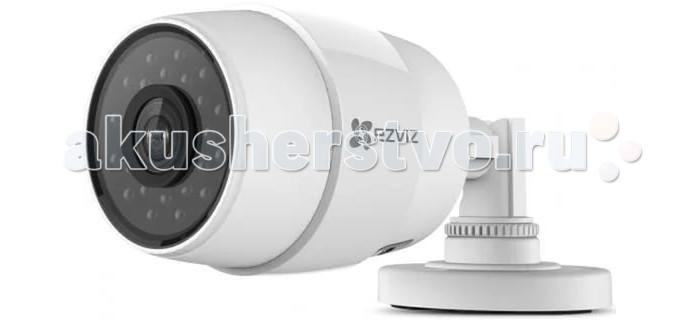 Ezviz Уличная IP-камера C3C PoEУличная IP-камера C3C PoEEzviz Уличная IP-камера C3C PoE - компактная уличная IP-камера с HD качеством видео и ИК-подсветкой до 30 м.   Особенности: данная модель имеет простую систему крепления высокий уровень влаго- и пылезащиты, благодаря чему может быть установлена в любом подходящем месте, легко перенесет непогоду и температурные перепады работает как от блока питания, так и от Ethernet-кабеля имеет широкий угол обзора и оборудована ИК-подсветкой до 30м для съемки в ночное время суток детектор движения фиксирует любые изменения и оповещает об этом пользователя прямую трансляцию происходящего можно посмотреть со смартфона или планшета, подключившись к устройству через приложение  возможна запись видео на microSD-карту до 128 Гб  Технические характеристики: разрешение матрицы- 1.0 Мп размер и тип сенсора- 1/3 CMOS разрешение- 1280x720 фокусировка- фиксированная объектив 2.8 мм чувствительность: 0.02 лк (F2.0,AGC вкл), 0 лк с IR частота кадров в режиме видео- 25 угол обзора- 92° по горизонтали, 114° по диагонали интерфейс- LAN длина кабеля- 40 см дальность действия ИК: до 30 метров формат записи видео: H.264 поддержка карт памяти: MicroSD до 128ГБ WDR (широкий динамический диапазон - съемка в условиях яркого света) простая настройка через облако EZVIZ двойное шифрование записи рабочая температура: от - 30°С до +60°С Размеры: 176.3 x 83.5 x 69.8 мм<br>
