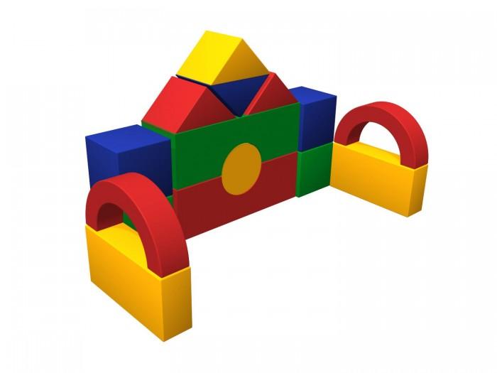 Romana Мягкий конструктор ТеремокМягкий конструктор ТеремокRomana Мягкий конструктор Теремок - это набор больших разноцветных кубиков, различной формы, для детского строительства.   Особенности: Обучает геометрическим формам, цветам и размерам.  Развивает фантазию.  Подходит как для детских дошкольных и младших школьных учреждений, так и для домашних развивающих игр.    Соответствует требованиям ГОСТ.  Габаритные размеры: 1500 х 900 мм Высота: 1100 мм Количество элементов: 15 шт. Кубик: 300 х 300 х 300 мм - 4 шт. Треугольник: 425 х 300 х 212 мм - 4 шт. Мост: 900 х 300 х 300 мм - 2 шт. Цилиндр: 300 х 300 х 300 мм - 1 шт. Прямоугольник: 600 х 300 х 150 мм - 2 шт. Арка: 600 х 300 х 150 мм - 2 шт.<br>