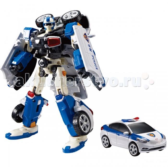Tobot Робот-трансформер C - ПолицияРобот-трансформер C - ПолицияTobot Робот-трансформер C - Полиция понравится мальчикам, которые обожают играть в полицейских.   Трансформер представлен реалистичной полицейской машинкой с знаками отличия на корпусе и проблесковыми маячками, которую можно катать руками, разыгрывая увлекательные сюжеты из популярного мультсериала «Тобот». С помощью несложных манипуляций автомобиль можно трансформировать в робота – стража порядка и обратно.  Особенности: Замечательная игрушка выполнена по мотивам популярного мультфильма «Тобот», и является миниатюрной копией одного из его персонажей. Благодаря несложным манипуляциям полицейская машинка бело-синего цвета с тонированными стёклами и проблесковыми маячками легко трансформируется в робота и обратно, для этого необходимо открыть ключем-токеном специальную защёлку. В комплекте находятся красочные наклейки, которыми малыш сможет украсить автомобиль по своему усмотрению. Автомобиль можно катать по поверхности, благодаря крутящимся колёсам с рельефным протектором. Благодаря точному исполнению всех деталей и их качественному соединению, трансформацию можно производить несчётное количество раз. Игрушка имеет компактный размер, удобный для манипуляций детскими ручками. Изделие изготовлено из ударопрочного пластика, поэтому игрушка порадует ребёнка своей долговечностью. Специально для мини Тобота ребёнок придумает множество увлекательных сюжетов для игр, в которых он станет главным персонажем. Занимаясь с трансформером, ребёнок улучшит память, научится размышлять логически, потренирует моторику рук, раскроет воображение и фантазию. Игрушка выполнена из качественных материалов и имеет требуемые сертификаты соответствия.  Комплект: Тобот C, ключ-токен, наклейки, 3 раскраски.<br>