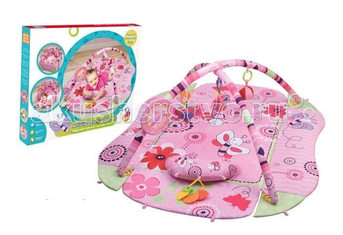 Игровой коврик Yako Пчелка Y8300102Пчелка Y8300102Yako Игровой коврик Пчелка, Y8300102 может развлечь малыша и подарить много радости. На этом коврике ребенок может без риска играть и баловаться. К дугам коврика можно прикрепить различные дополнительные подвески и игрушки - они не только будут развлекать малыша, но и притягивать его внимание. Игры на коврике будут стимулировать ребенка к движению и, соответственно, ему легче будет научиться ходить.  Эта игровая площадка изготовлена из мягких материалов, благодаря чему родители могут не опасаться, что их ребенок может получить травму, играя на коврике. Он выполнен в нежных приятных цветах с веселым изображением цветочков и летающих пчелок.<br>