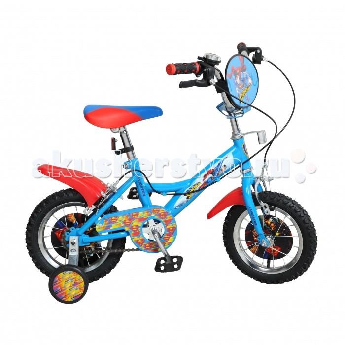 Велосипед двухколесный Navigator Супермен 12Супермен 12Велосипед двухколесный Navigator Супермен 12 ВН12100 отлично подойдет для любителей активного отдыха, а также любителей Супермена. Велосипед оснащен двумя страховочными колесами, которые обеспечат безопасность и помогут научиться держать равновесие. Все элементы велосипеда Супермен изготовлены из высококачественных элементов, отвечают стандартам качества и нормам безопасности.  В раскраске самоката превалируют красные и синие цвета. Также данная модель оснащена ручным тормозом, который отвечает как за переднее колесо, так и за заднее. Благодаря этому ребенок сможет сам контролировать процесс торможения и управлять велосипедом в полной мере.  Размер колеса: 30.5 см.<br>