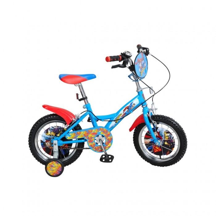 Велосипед двухколесный Navigator Супермен 14Супермен 14Велосипед двухколесный Navigator Супермен 14 ВН14158 - отличный подарок для мальчиков от 3 лет. Велосипед оснащен парой страховочных колес, звонком и рулевым щитом. Колеса и корпус велосипеда украшены изображениями в виде героя мультфильма.   Останавливать велосипед можно с помощью ручного тормоза, расположенного прямо под рулем. Можно звонить в звонок, предупреждая о препятствии на дороге. Сиденье велосипеда - удобное, с регулируемой высотой. Корпус велосипеда - металлический.   Велосипед несомненно понравится вашему ребенку своей красочностью.  Диаметр колес: 35 см.<br>