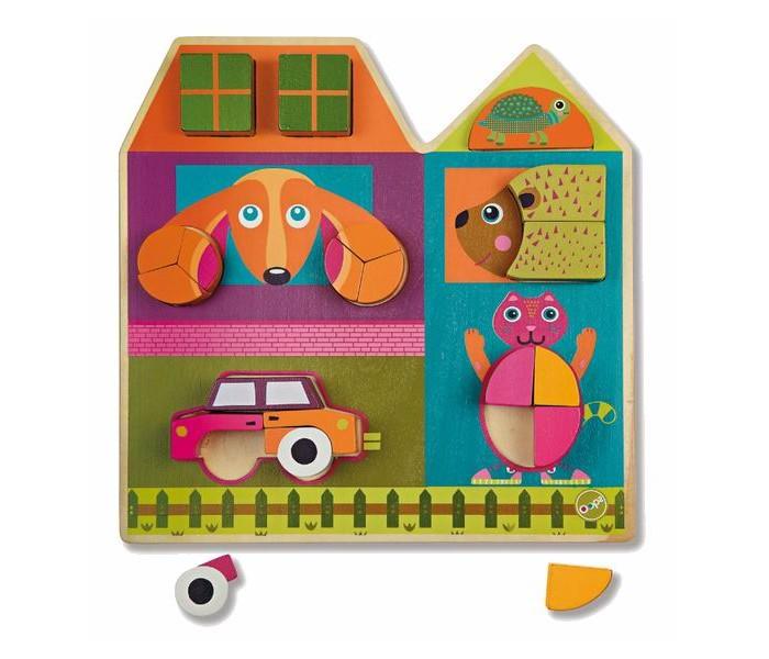 Деревянные игрушки Oops Пазл Построй дом деревянный пазл oops собака 9 элементов