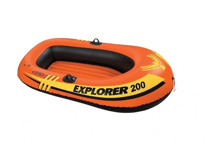 Матрасы для плавания Intex Надувная лодка Explorer 200 матрасы для плавания intex плотик с ручками