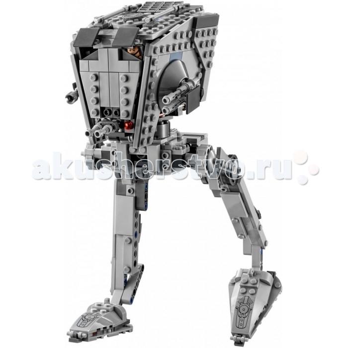 Конструктор Lego Star Wars Разведывательный транспортный вездеход AT-STStar Wars Разведывательный транспортный вездеход AT-STLego Star Wars Разведывательный транспортный вездеход AT-ST - запускай свой разведывательный транспортный вездеход и начинай охоту на Бейза и повстанца-пехотинца. Открой крышку верхнего люка, загрузи минифигурку водителя AT-ST и скорее принимайся за дело. После того как обнаружишь врагов, поверни руль, чтобы навести на них пружинные пушки, и открывай огонь! Смогут ли Бейз и пехотинец скрыться от приближающегося AT-ST? Этот выбор придется сделать тебе...<br>