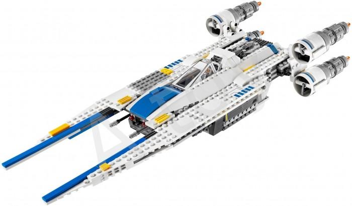 Конструктор Lego Star Wars Истребитель Повстанцев U-wingStar Wars Истребитель Повстанцев U-wingLego Star Wars Истребитель Повстанцев U-wing еще одна модель истребителя – U-wing. У нее выдвижные крылья, что позволяет менять внешний вид игрушки, делая ее больше или маневреннее. Любой комплект конструкторов из серии Star Wars это идеальный выбор для подарка всем, кто знаком с этой вселенной давно и тем, кто только начинает знакомиться как с вселенной звездных войн, так и с миром конструкторов Лего. Кроме модели истребителя в комплект входит команда из 5 фигурок: Джейн Эрсо, Бистан, Кассиан Андор, Повстанец Штурмовик и Пилот U-wing.   Открыв кокпит, нам нужно посадить пилота в кресло, команду в специальный отсек и готовиться к запуску! Сначала проверить двигатели, потом зарядить пушки, расправить крылья и вперед! Враг на горизонте, твой корабль оснащен передними и боковыми подпружиненными шипованными шутерами, не медли, орудия в полной боевой готовности – огонь! Не расслабляйся, все только начинается! Участвуй в великих сражениях, измени ход истории, побеждай и создавай свой невероятный сюжет!<br>