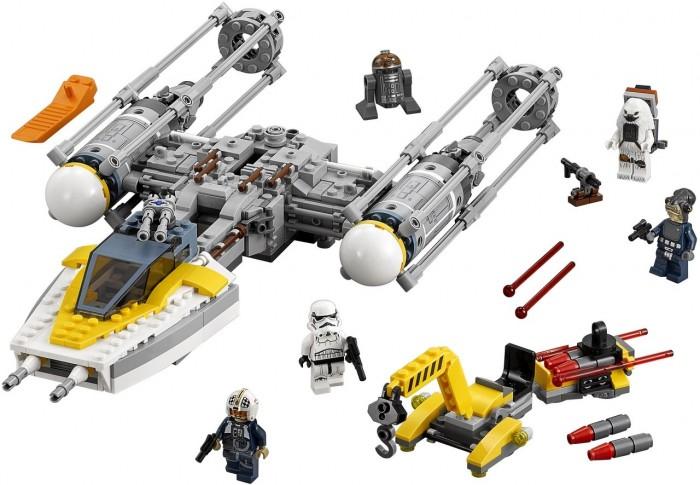 Конструктор Lego Star Wars 75172 Звёздный истребитель типа YStar Wars 75172 Звёздный истребитель типа YLego Star Wars 75172 Звёздный истребитель типа Y - если повстанцам нужен мощный истребитель, на помощь приходит Вай-Винг. Подведи погрузчик оружия и загрузи амуницию. Затем посади пилота, подымай шасси и вперед в небо! Как только ты увидишь цель, начинай стрелять из шутеров. Не забудь повернуть штурвал, чтобы открыть люк и сбросить бомбы. Собери свою коллекцию героев Звездных воин и проиграй множество битв и разных ситуаций со своими персонажами.<br>