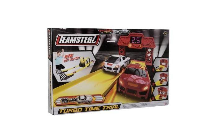HTI Трек Гонка на время TeamsterzТрек Гонка на время TeamsterzHTI Трек Гонка на время Teamsterz понравится любому мальчишке. Трек состоит из двух трасс трека с двойными петлями, финишная линия с встроенным таймером и определителем победителя, 2 инерционных машинки в комплекте.  Протяженность трека 6 метров.  Работает от 2 батареек типа АА/LR6 (в комплект не входят)<br>