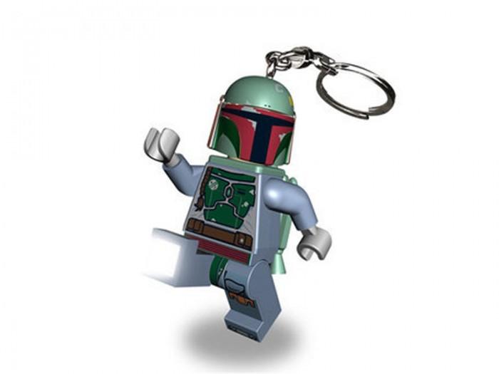 Lego Lego Брелок-фонарик Звездные войны Боба Фетт брелок для поиска ключей в комплекте свисток цена