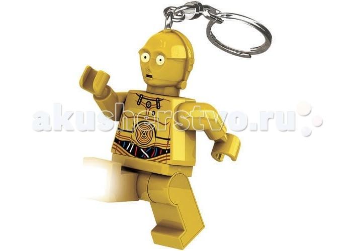 Lego Lego Брелок-фонарик Звездные войны C3PO брелок для поиска ключей в комплекте свисток цена
