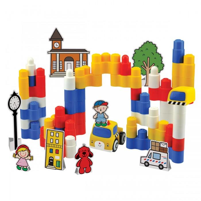 Конструктор KS Kids Игровой набор Город мечты 50 деталейИгровой набор Город мечты 50 деталейКонструктор KS Kids Игровой набор Город мечты 50 деталей представляет собой целый игрушечный городок с домиками, деревьями, фигурками людей и даже машинками. Детали конструктора изготовлены из высококачественного пластика, а карточки с декорациями - из плотного картона. Все предметы, имеющиеся в комплекте - очень яркие и красочные, благодаря чему смогут надолго привлечь внимание крохи.  В набор входят: 50 пластиковых деталей конструктора, одна игровая фигурка (машинка), карточки с декорациями.<br>