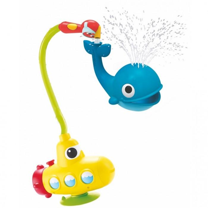 Yookidoo Игрушка водная душ Подводная лодка и КитИгрушка водная душ Подводная лодка и КитYookidoo  Игрушка водная душ Подводная лодка и Кит имеет насосную систему, благодаря которой происходит циркуляция воды. Вода течет как по волшебству, а сами насадки имеют подходящий размер для маленьких ручек.    Для настоящего веселья достаточно наполнить кита водой и наблюдать как забавно он перемещается в ванне.  Игрушка работает от батареек «АА» x 4 (не входят в комплект).<br>