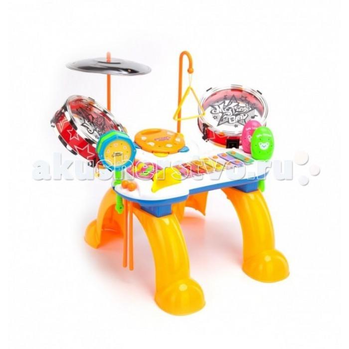 Bradex Станция музыкальная Мелодия детскаяСтанция музыкальная Мелодия детскаяBradex Станция музыкальная Мелодия детская подарит отличное настроение Вашему ребенку и надолго его увлечет. Установка включает в себя ксилофон, треугольник, бубен, дудку, маракасы и даже барабаны. Импровизируйте всей семьей и развивайте музыкальные способности Вашего ребенка.  Установка не требует источника питания.   В комплекте: Ксилофон Китайский барабан Тамбурин Треугольник Тарелки Барабаны Труба Маракасы Размеры:40x26x20 см<br>
