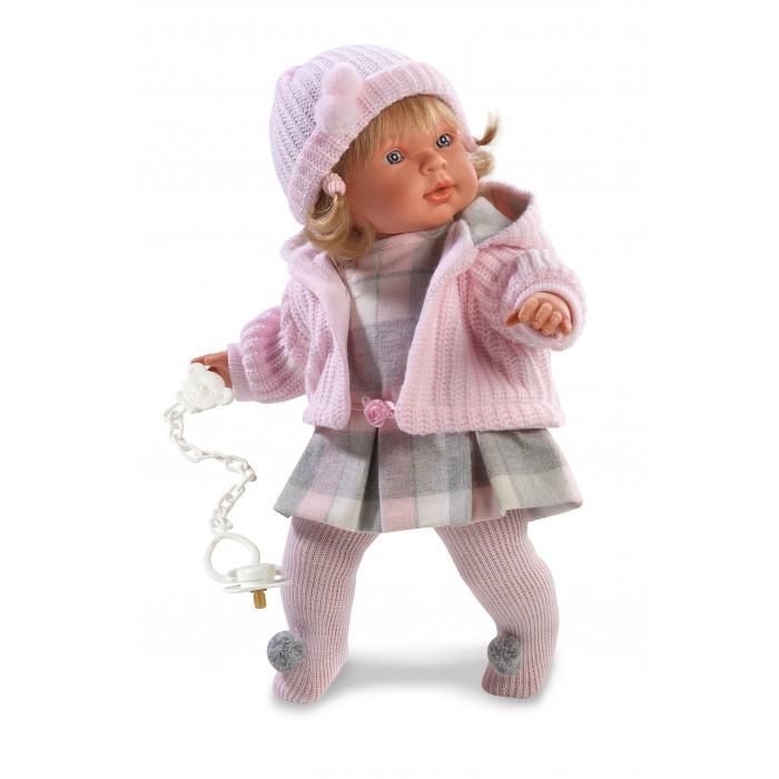 Llorens Кукла Анна 42 см L 42124Кукла Анна 42 см L 42124Llorens Кукла Анна 42 см L 42124 - играть с малышкой будет не только интересно, но и увлекательно, ведь у кукол можно разглядеть не только мимику лица, но и реалистичные складочки на ручках и ножках, которые анатомически точно передают внешние особенности настоящих малышей.  Кукла одета в яркий и стильный наряд!  При изготовлении кукол Llorens используются только сертифицированные материалы, безопасные и не вызывающие аллергических реакций. Тело куклы является мягконабивным, ее ножки и ручки можно двигать, а голову поворачивать в разные стороны.<br>