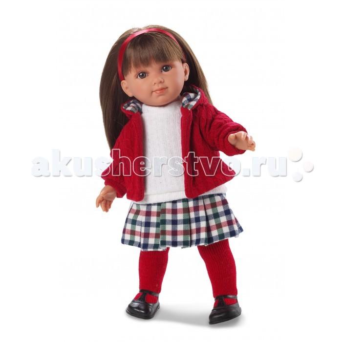 Llorens Кукла Елена 35 см L 53515Кукла Елена 35 см L 53515Llorens Кукла Елена 35 см L 53515. Кукла из ПВХ с мягконабивным туловищем из синтетического волокна. Без механизмов и звуковых эффектов. Кукла одета в белую маечку с красной кофточкой, юбку и колготки. Глазки у куклы не закрываются. Волосы прошиты по всей голове.   Упакована в подарочную упаковку.<br>