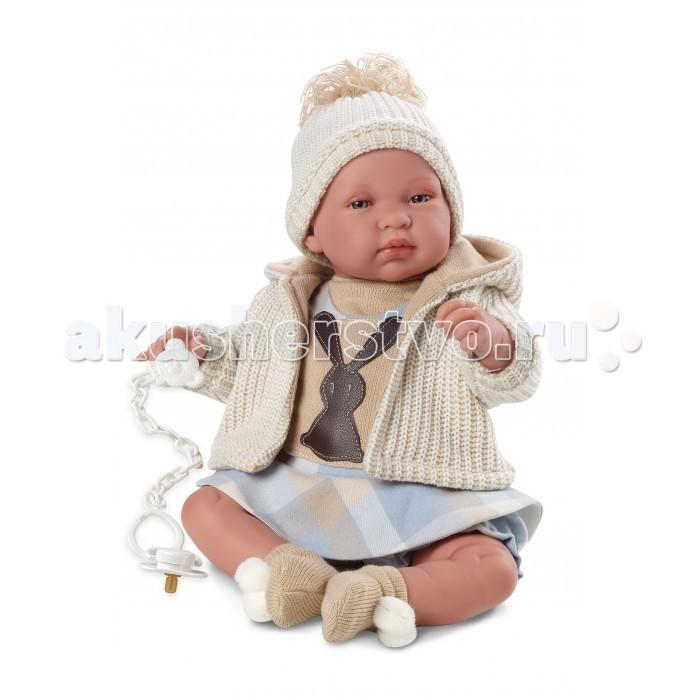 Llorens Кукла младенец 43 см со звукомКукла младенец 43 см со звукомLlorens Кукла младенец 43 см со звуком - играть с малышкой будет не только интересно, но и увлекательно, ведь у кукол можно разглядеть не только мимику лица, но и реалистичные складочки на ручках и ножках, которые анатомически точно передают внешние особенности настоящих малышей.  Кукла одета в яркий и стильный наряд!  При изготовлении кукол Llorens используются только сертифицированные материалы, безопасные и не вызывающие аллергических реакций.<br>